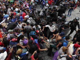 México,frontera,Hondureños,
