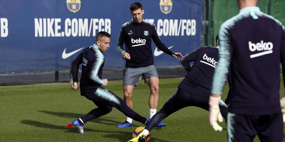 Lionel Messi y Samuel Umtiti