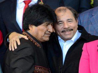 Evo Morales y Daniel Ortega