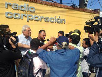 Protesta periodistas Radio Corporación
