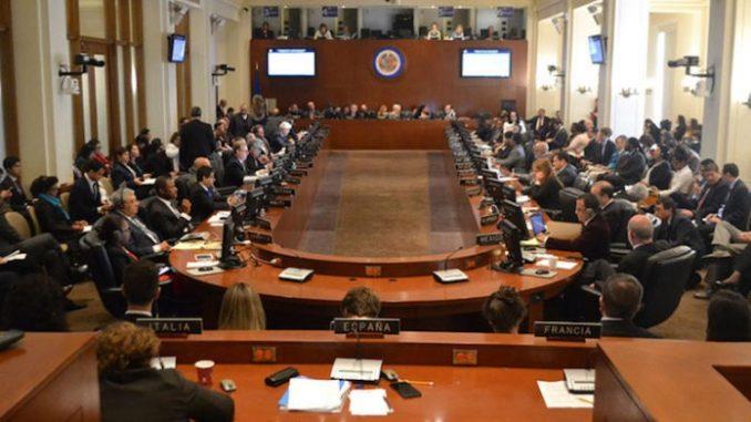 Sesión extraordinaria,OEA,Nicaragua,
