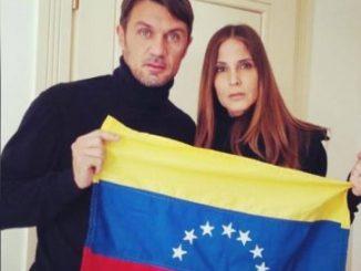 Ex futbolista italiano / Actriz y modelo venezolana