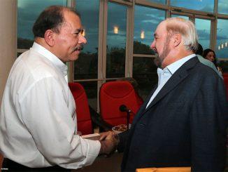Daniel Ortega y Carlos Pellas