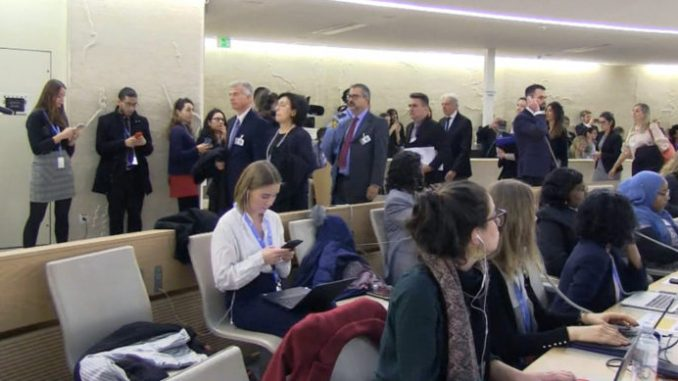 Sesión de la ONU
