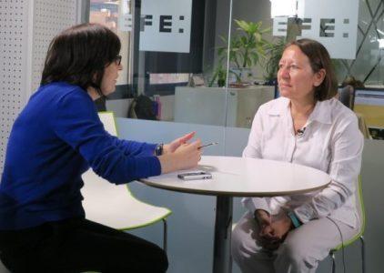 Feminista María Teresa Blandón, en una entrevista con EFE