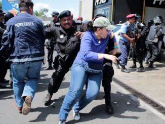 Represión en Managua