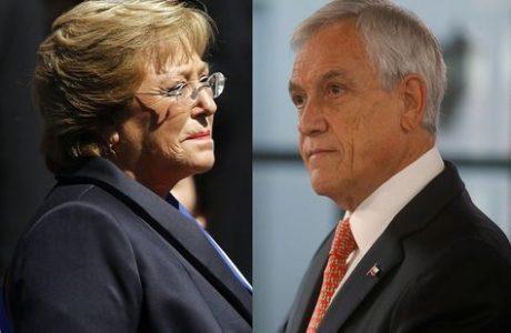Piñera,Bachelet