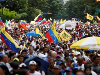 venezolanos,marcha,