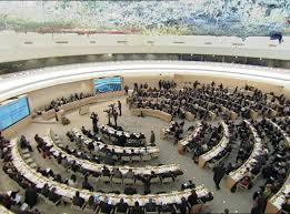 Sala del CDH en Ginebra