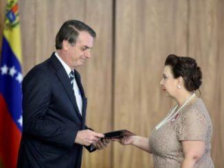 Jair Bolsonaro y María Teresa Belandria
