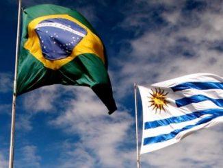Los cancilleres de Brasil, Ernesto Araújo, y Uruguay, Rodolfo Nin Novoa
