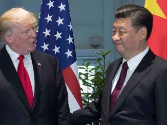 El presidente de Estados Unidos, Donald Trump y su homologo chino, Xi Jinping. Foto: Periódico El Dinero