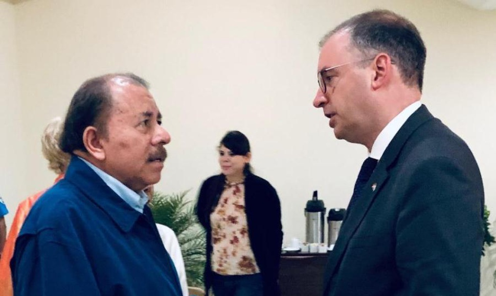 Niels Annen y Daniel Ortega