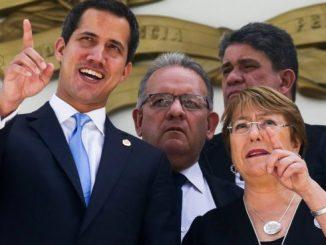 alta comisionada para los Derechos Humanos, Michelle Bachelet Y gobierno interino de Juan Guaidó