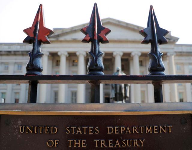 La sede del Departamento del Tesoro de EEUU en Washington
