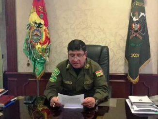 jefe de la Policía Nacional de Bolivia, Yuri Calderón