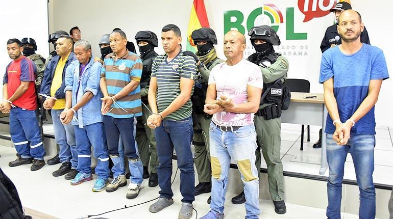 Venezolanos arrestados en Bolivia