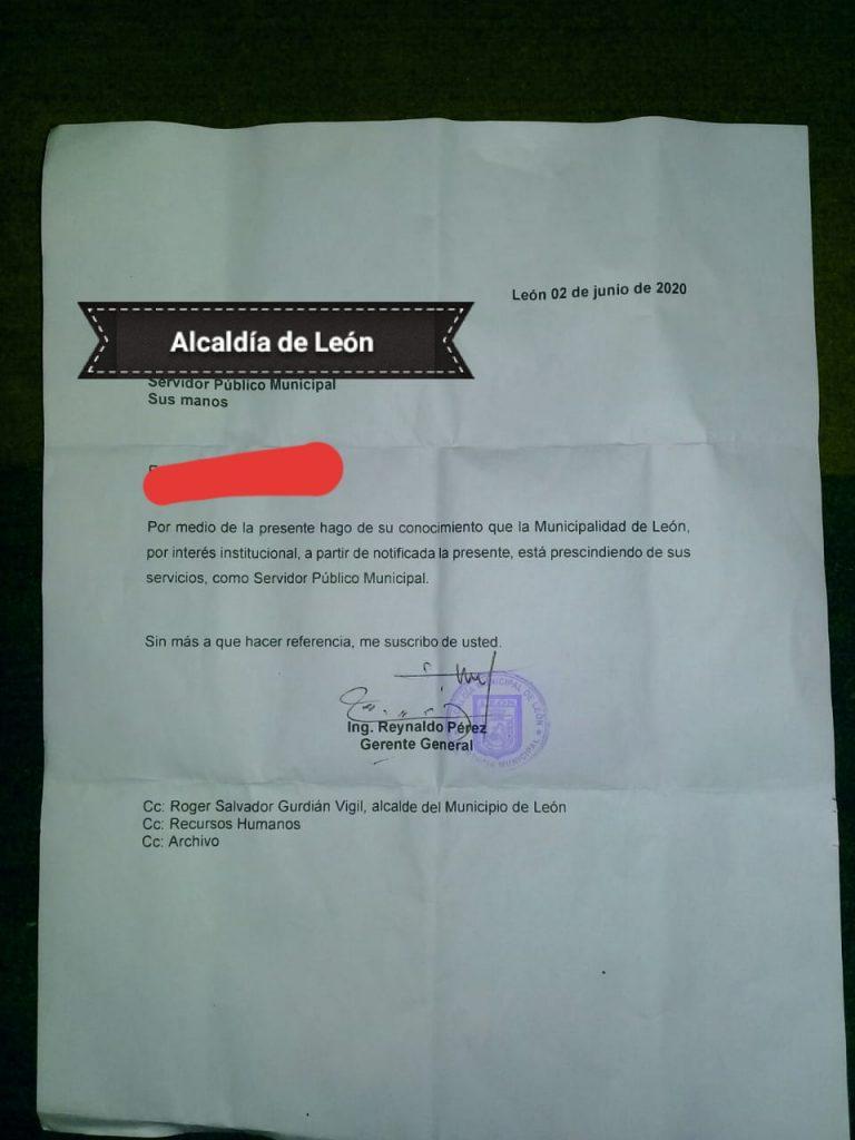 200 trabajadores despedidos de alcaldía municipal de León