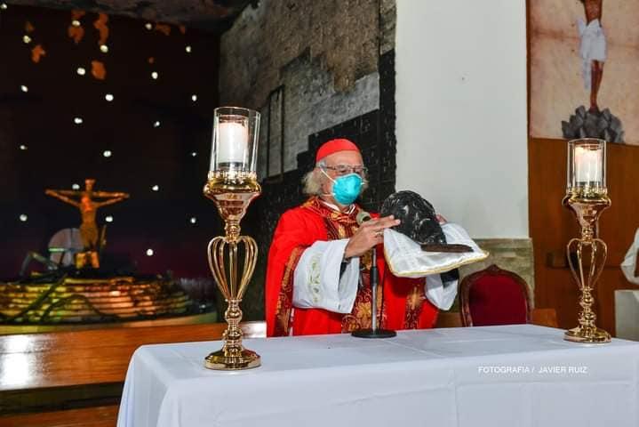 Cardenal nicaragüense y arzobispo de Managua, Leopoldo Brenes