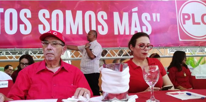 Arnoldo Alemán y María Fernanda