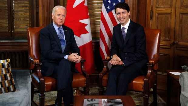 El presidente de Estados Unidos, Joe Biden y el primer ministro de Canadá, Justin Trudeau