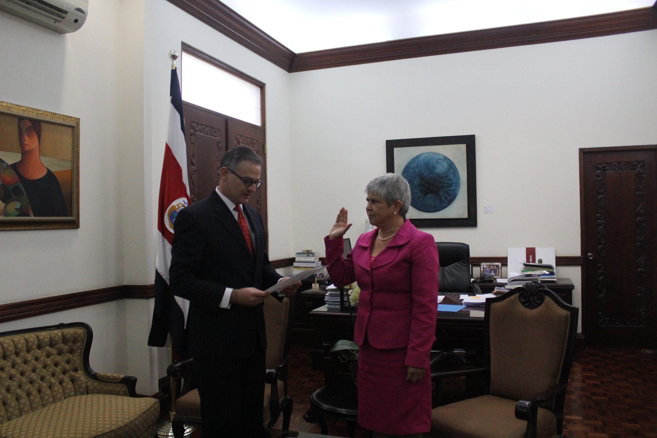 Nueva embajadora de Costa Rica en Nicaragua. El cargo estaba vacante desde  el 2018