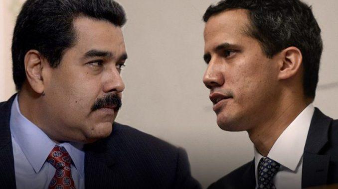 Nicolás Maduro y Juan Guiadó